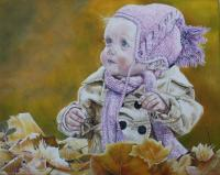 Ange d automne huile 1 1