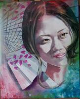 Femme du monde chinoise huile